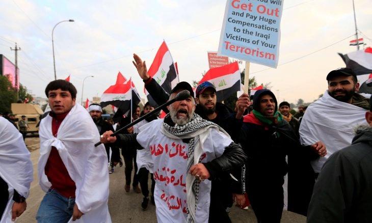 تظاهرات حاشدة في بغداد