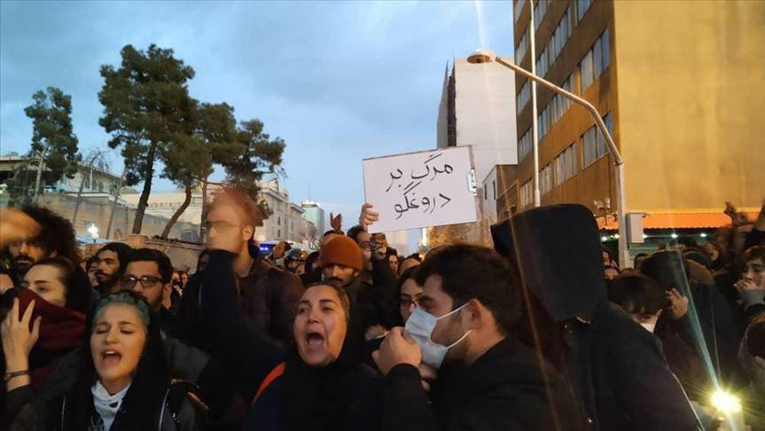 استمرار المظاهرات تنديدا بإسقاط الطائرة الأوكرانية في إيران
