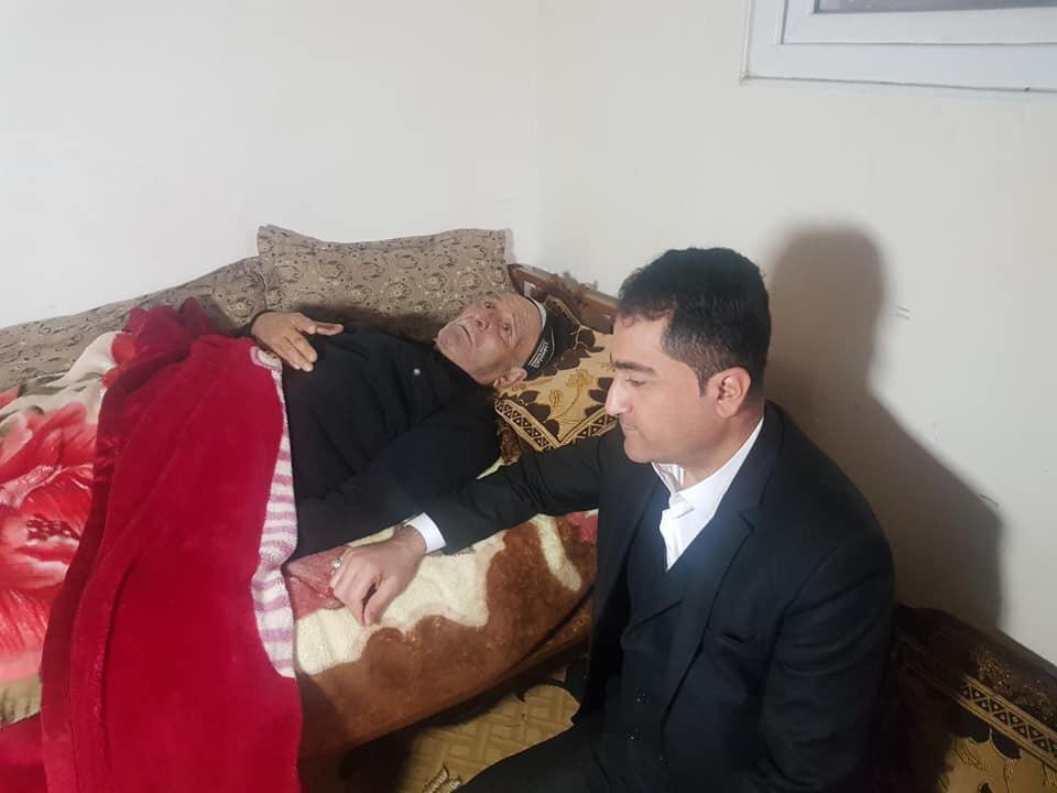 Mardin Gökkaya, Telaferli Şair Muşuoğlu'nu Ziyaret Etti