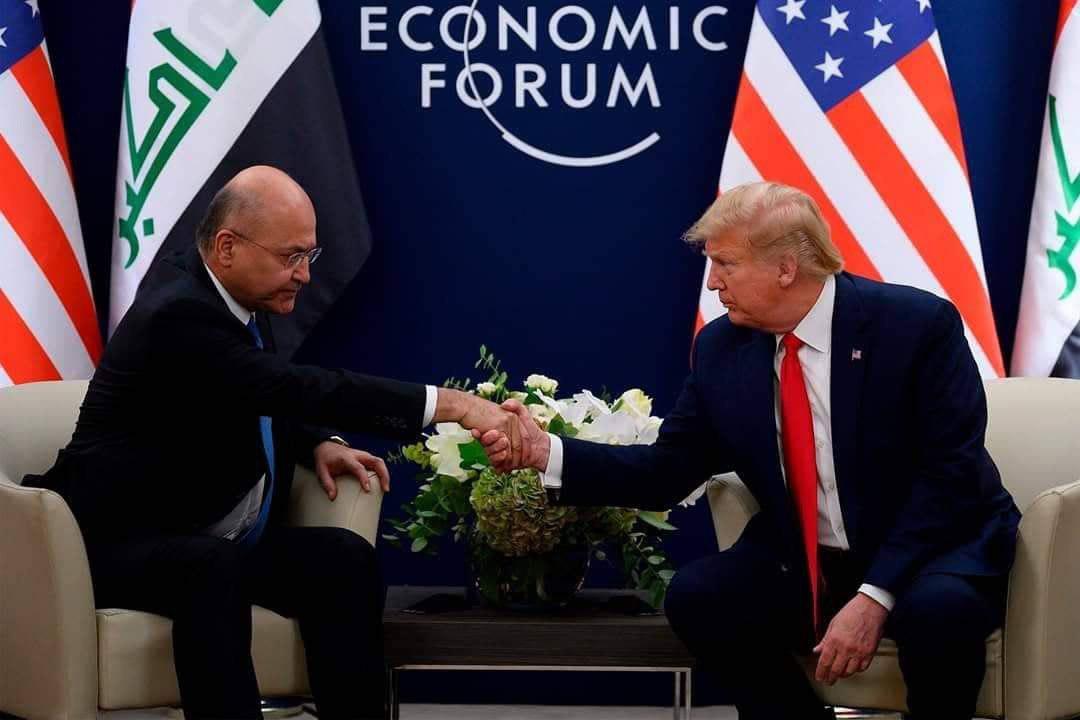 ترامب يلتقي صالح في بغداد