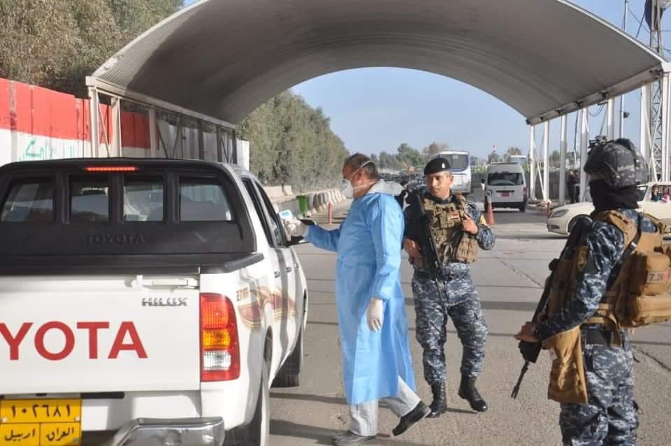 الشرطة الاتحادية يتخذ اجراءات وقائية لمواجهة فيروس كورونا في كركوك