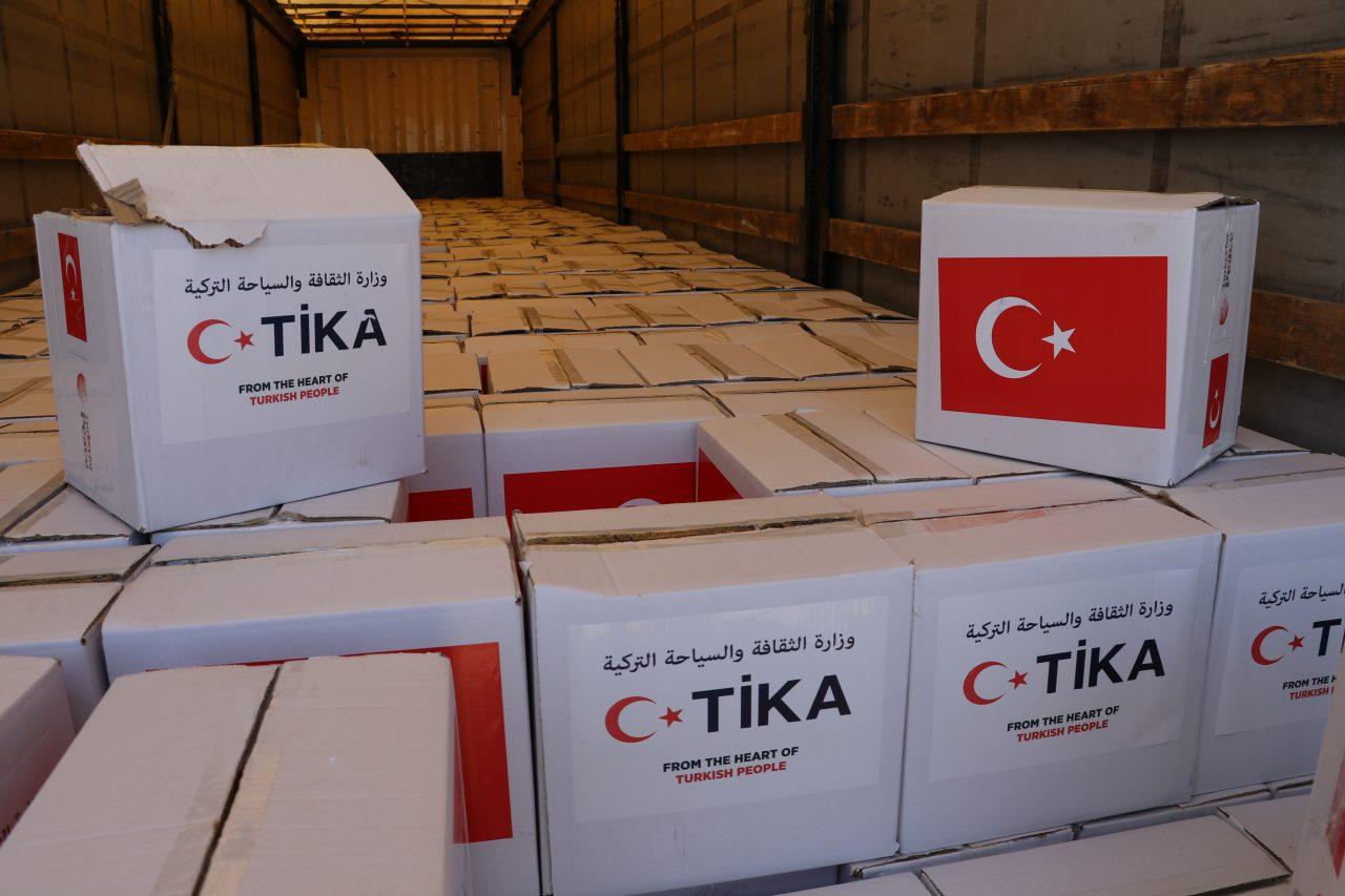 TİKA, Türkmeneli'ye Yardım Kolileri Dağıttı.