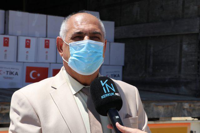 وكالة تيكا التركية تقدم مساعدات غذائية للعوائل المتعففة في مناطق توركمن ايلي