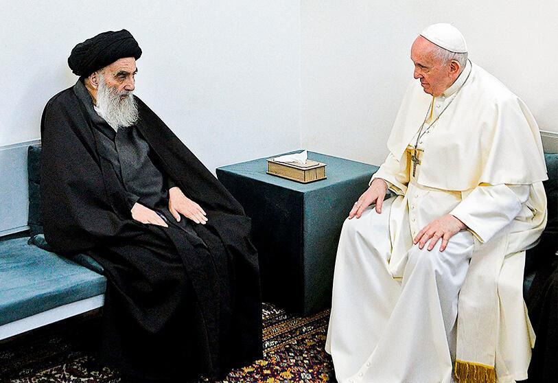 Atalayar_Alí al-Sistani, líder chií Irak, papa Francisco